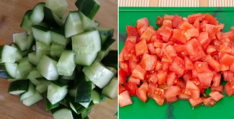рецепт овощного салата