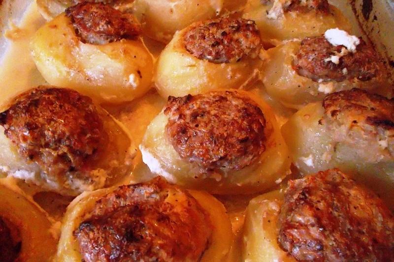 фаршированный картофель рецепт