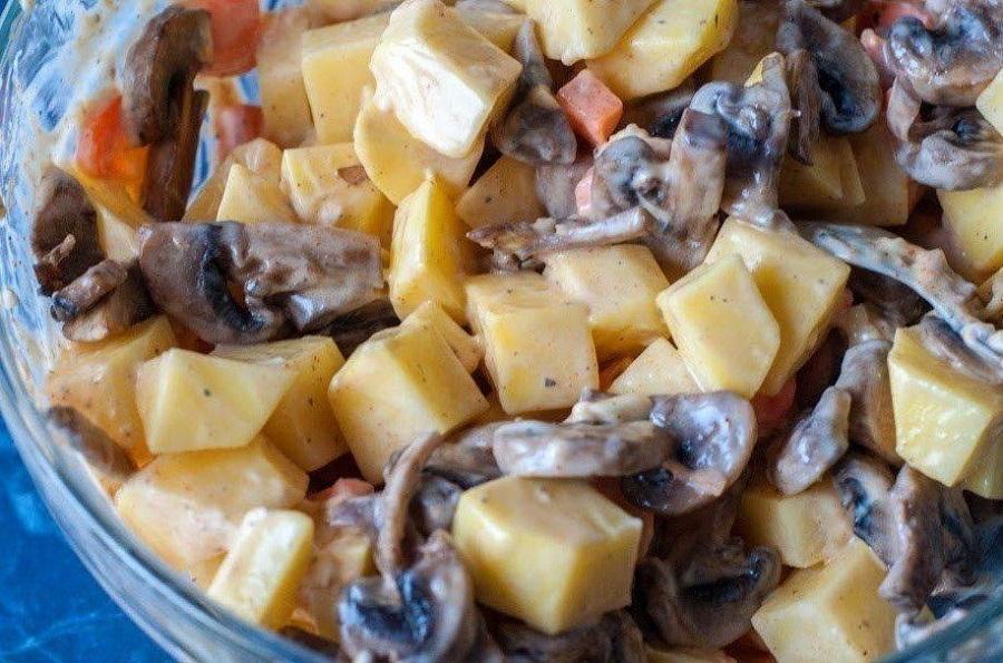картофель с курицей запеченный в духовке
